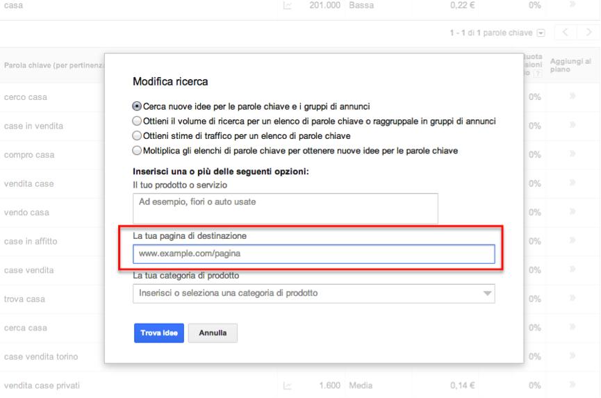 Keyword-List-Ricerca-Pagina-Web