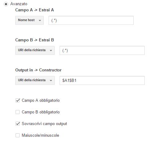 Filtro Personalizzato per visualizzare URL intero nei report Analytics